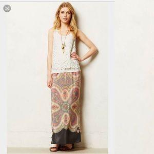 Anthropologie Vanessa Virgina Palme Maxi Skirt